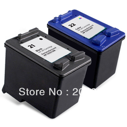 Groovy 100%New 2pk ink catridges For HP 21 22 Ink Cartridge Combo pack BY76