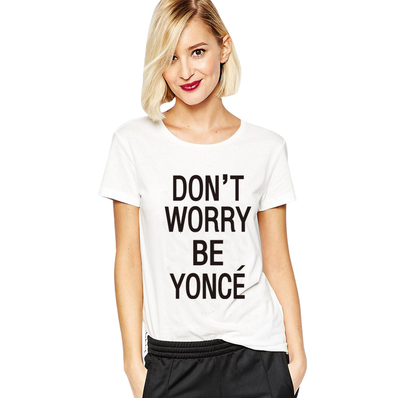 SexeMara 2018 Neu SORGEN SIE NICHT Beyonce Gedrucktes T-Shirt Damen - Damenbekleidung - Foto 4