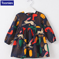 Dresses For Toddler Girls Rabbit Summer Print Cotton Party Dress Clothing For Kids Bunny Autumn Long Sleeves Costume Vestidos