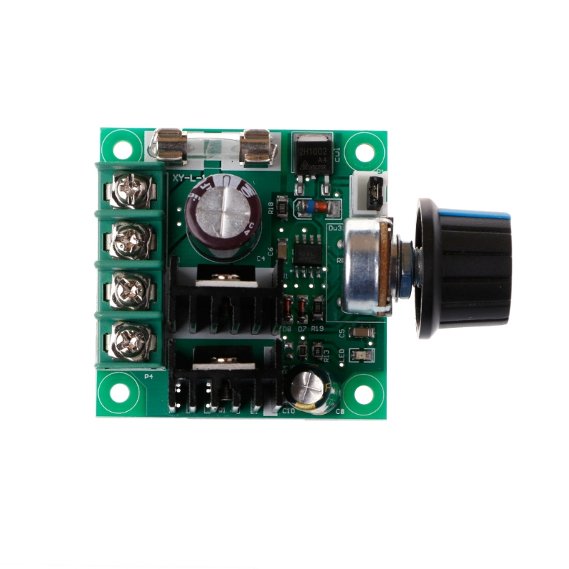 9V-50V 10A PWM DC Motor Speed Controller with Knob Adjustable Speed Regulator 20a universal dc10 60v pwm hho rc motor speed regulator controller switch l057 new hot