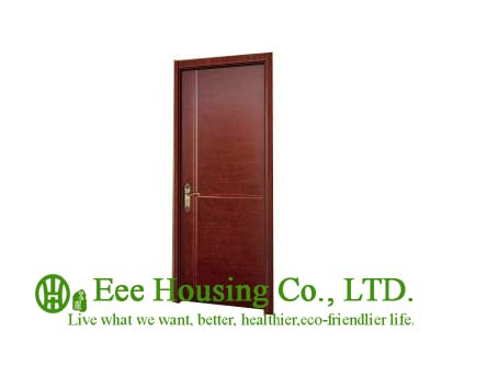 40mm Thickness White Timber Veneer Door For Apartment, Swing Type Door, Inward & Outward Opening Entry Door, MDF Timber Door