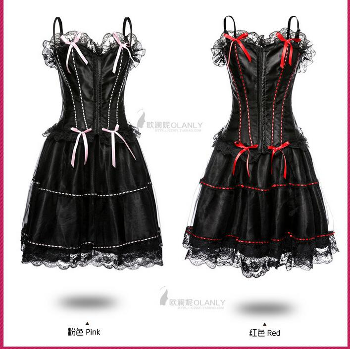 Chrismas Sexy   Corset   Wedding Party Dress   Bustier   Whole Set   Corset   Sexy Lingerie Gothic Party Queen   Corset   Dress
