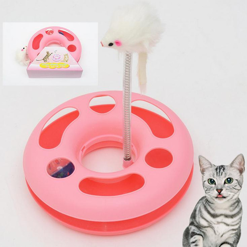 New Spring Mice Crazy Amusement Multifunctional Disk Cat Toy Play Funny Activity Interactive Mouse Toys For Pet Cat Plastic Toy