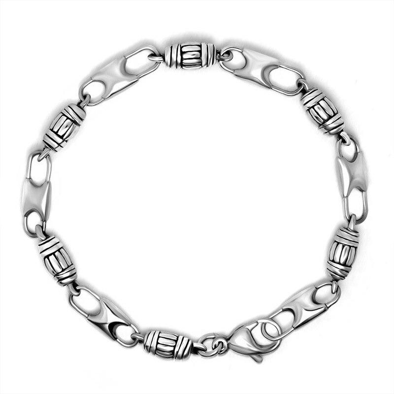 Bijoux en acier inoxydable pour hommes mode simple cylindre en acier titane double boucle bracelet bracelet accessoires CE378