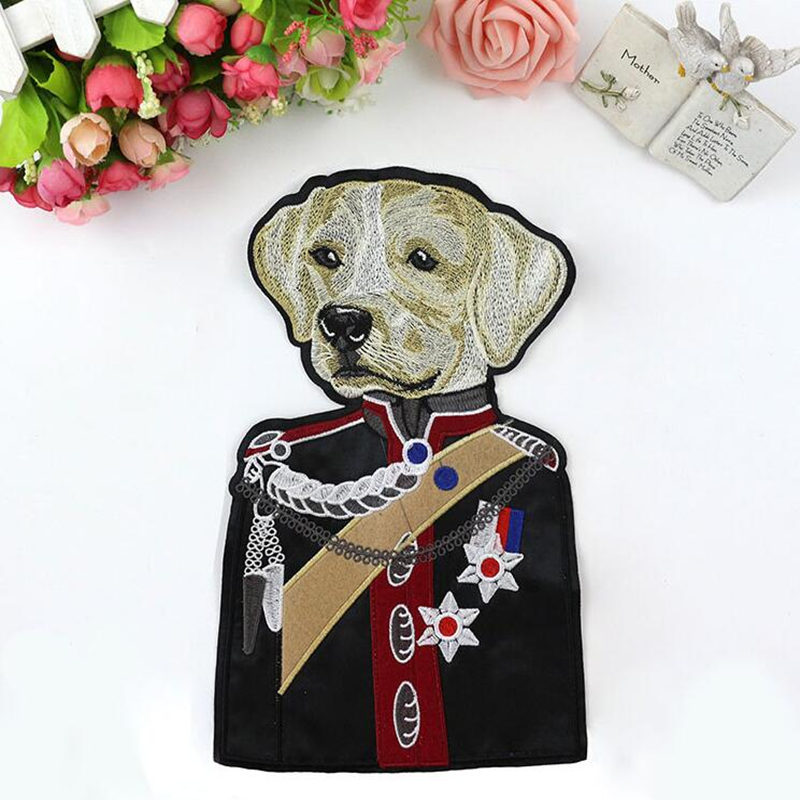 Large Dog Sewing Accessories Patchworks Cartoon Patches Clothing Applique Fabric For Handmade design Sweater Coat decoration
