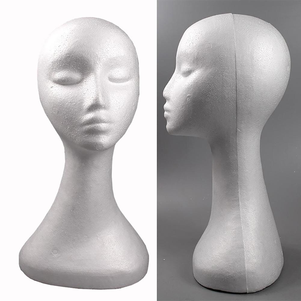 38*21cm Female Mannequin Head Dummy Model Display Stand for Wig Jewelry Headphone Hat mannequin