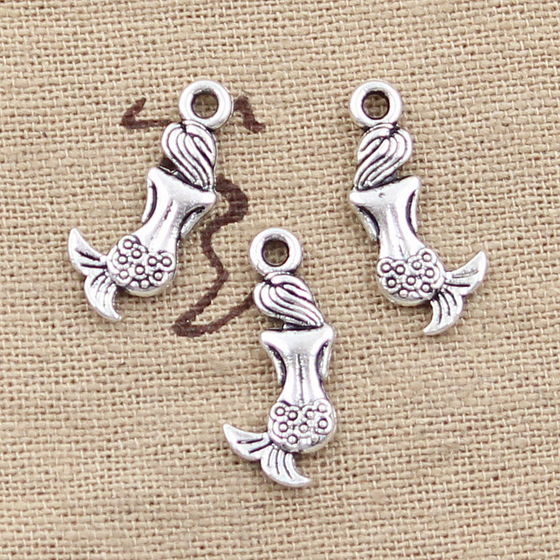40//60Pcs Tibetan Silver Horned Beast Charms Pendants Jewelry Crafts 26*16mm
