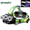 SKYWOLFEYE T6+XPE LED Headlamp Headlight 1500Lm Rechargeable Head Light Lamp Torch for Outdoor Camping Hiking Fishing