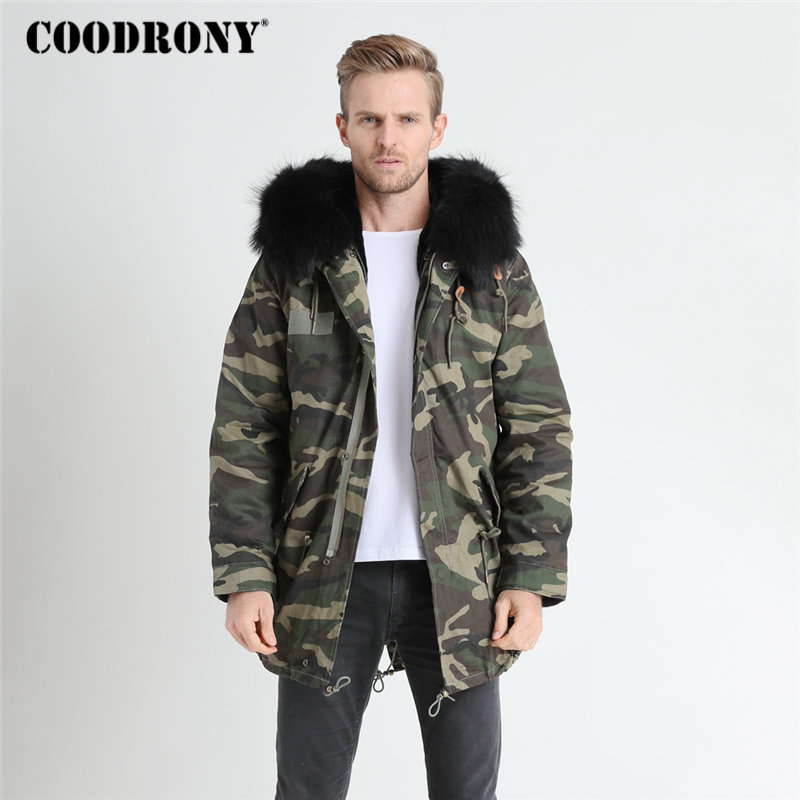 COODRONY Winter Jacket Men Thick Warm Hooded   Parka   Brand Jackets And Coats With Raccoon Dog Fur Collar Winter Long Coat Men 8823
