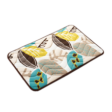 Design Plant Leaves Print Front Door Mat Floor Carpet Coral Fleece Rug Doormat For Hallway Outdoor Indoor Antiskid Welcome