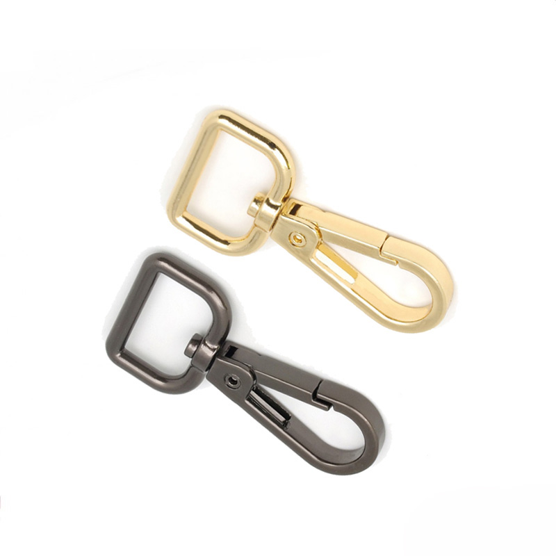 10pcs 16mm Hooks Buckles Metal Handbag Clasps Lobster Swivel Trigger Clips Snap Hooks Buckles Carabiner Gold Silver Black