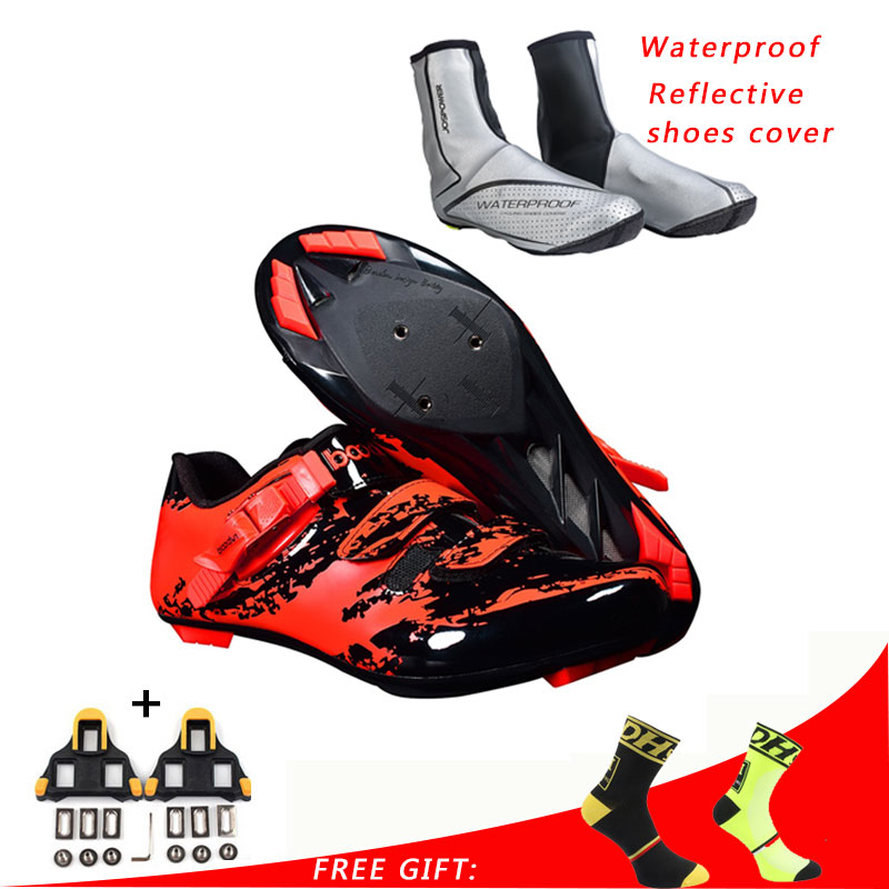 Boodun Road Cycling Shoes Men Women Sport Bicycle Shoes Self Locking Professional Racing Road Bike Shoes zapatillas ciclismo-in Cycling Shoes from Sports & Entertainment    1