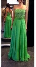 Langes Kleid Mit Perlen Spitze Top A Line Chiffon Abendkleider Zur Verfügung Plus Größe