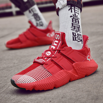 цена Men Running Shoes Sneakers Sport Fashion Lace-up Breathable Outdoor Walking Sneakers Shoes for Male онлайн в 2017 году