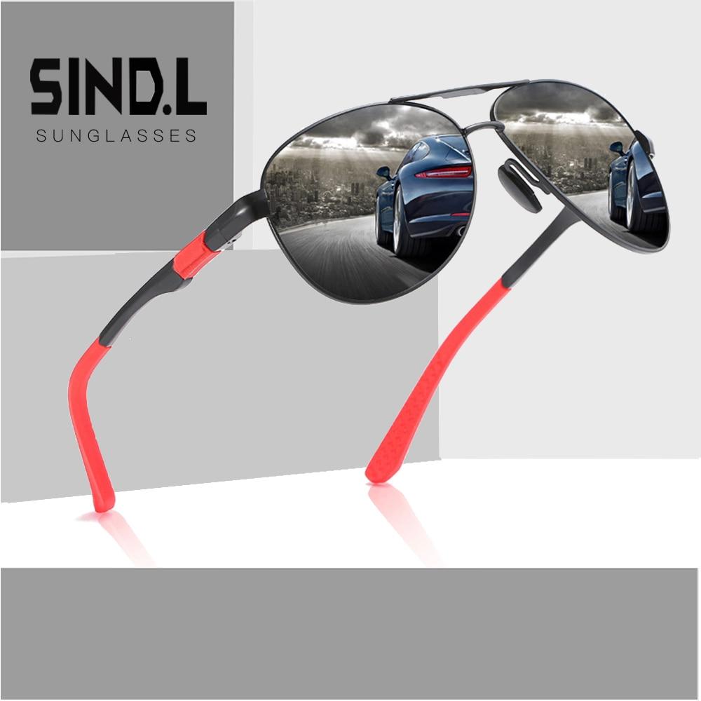 Mens Classic Pilot Sunglasses Polarized UV400 High Quality Driving Glasses For Men Luxury SL164