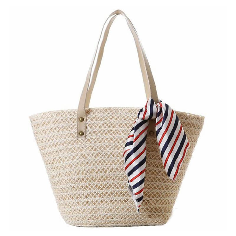 YUFANG Brand Beach  Beach Bag With Scarve Summer Holiday Straw Bags For Women Ha