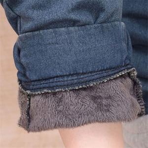 Image 5 - Arrival Winter Warm Jeans Women Thicken Fleece Skinny Harem Pants Trousers Elastic Waist Denim Trousers Plus Size Pants C1504