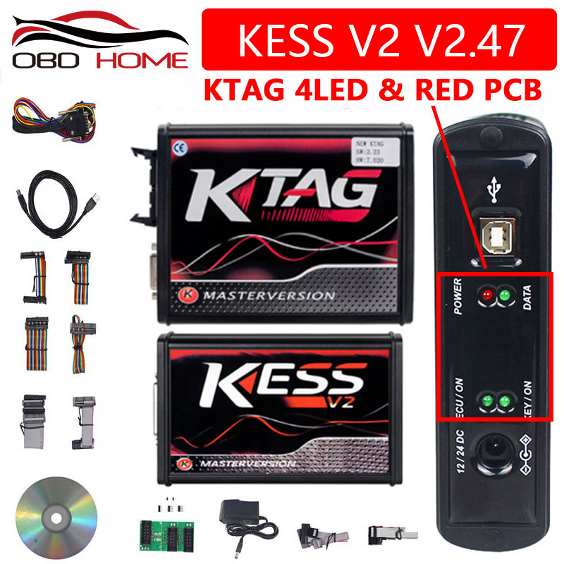 OBD2 Kess V2 V2 47 Manager Tuning Kit Kess 5 017 Master Best Quality KTAG 7 020 4 LED Kess V5 017 Lowest Price KTAG V7 020