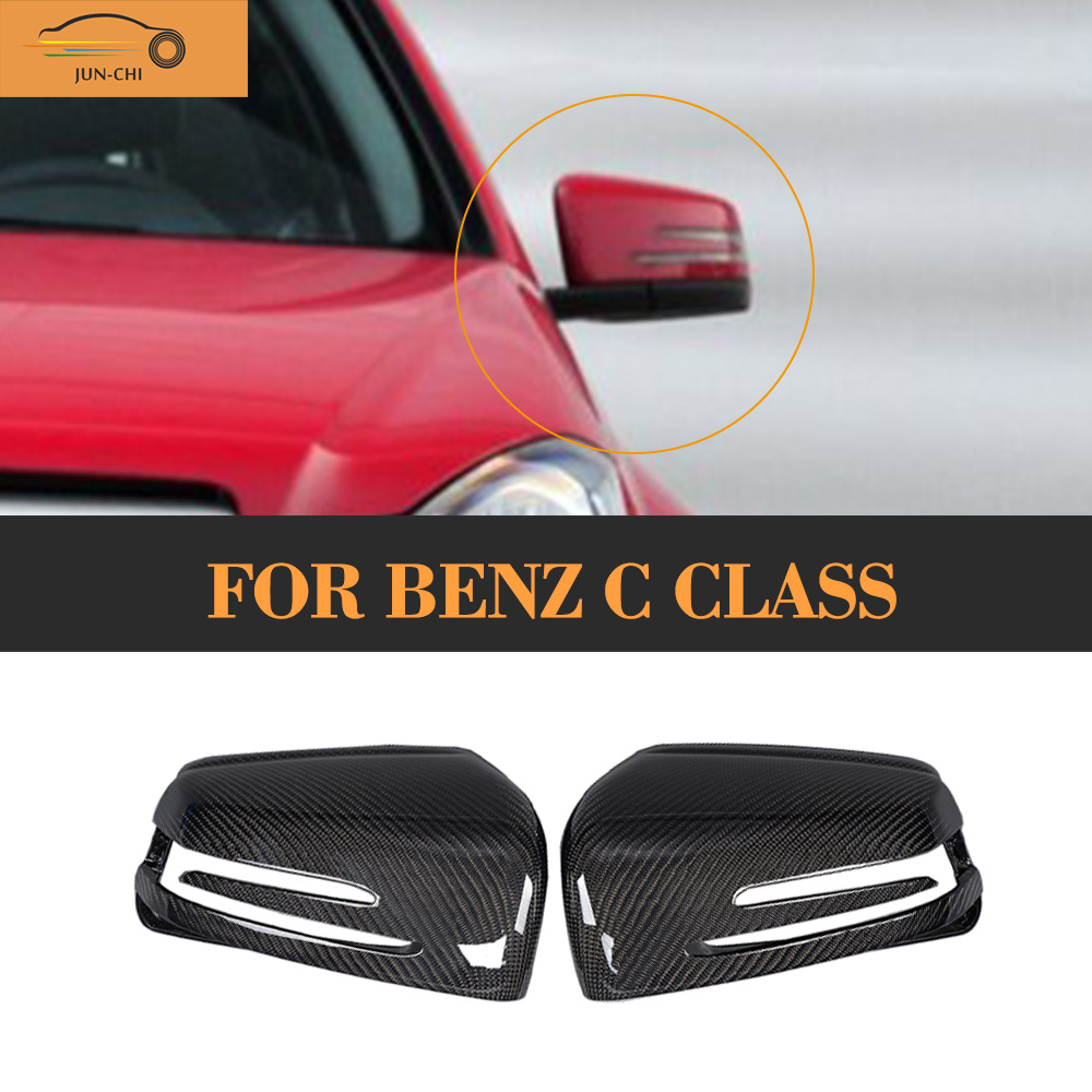 C Class Carbon fiber car side mirror Covers Caps For Mercedes Benz W204 Facelift 2011 - 2016 carbon fiber car side mirror cover for mercedes benz cla class c117 2013 2014 2015 2016