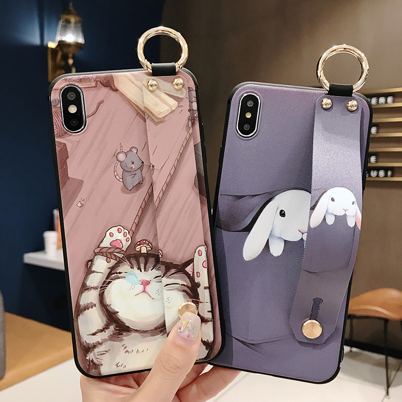 Girls Fashion Case with Wrist Strap for iPhone 11/11 Pro/11 Pro Max 10