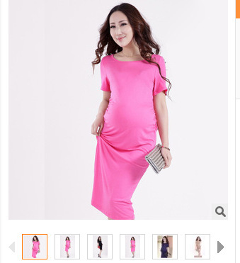 Hot! 2016 pregnant women dress clothes for summer 100% pregnant women skirts free delivery pure cotton material