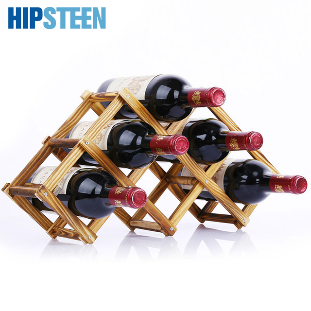 Hipsteen Foldable Honeycomb Wine Rack 36 Bottle Wooden Mount
