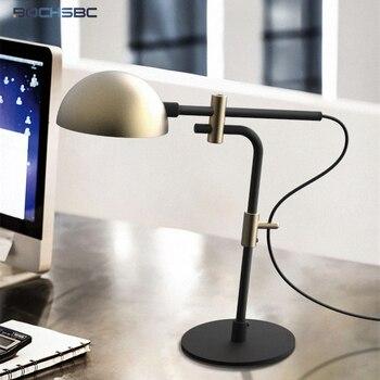 Led Light Pole | BOCHSBC Modern Iron Art Desk Lamp Pole Long Lampshade Adjustable Industrial Retro Table Light Creative Simplicity Lighting E27