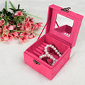 High Grade Small Velet Soft Jewelry Box casket Charms Pendants Storage Display Small 12*12*7.5cm  270g B016