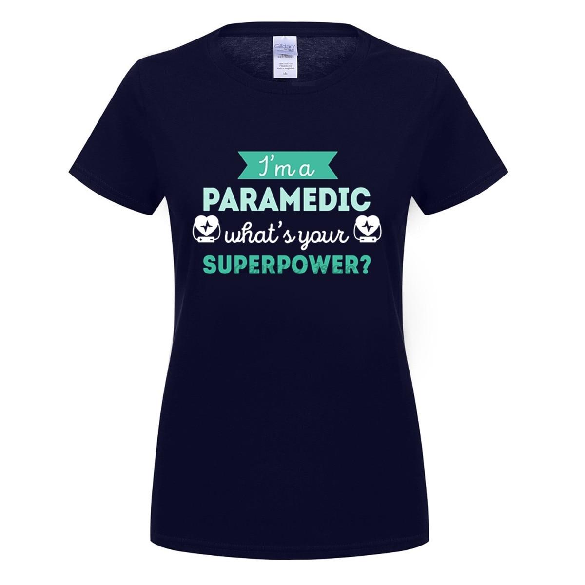 Gildan Paramedic Superpower Profession Healthcare T Shirt Women