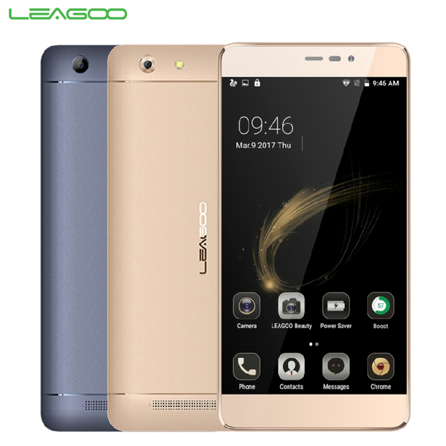 Original LEAGOO Shark 5000 Mobile Phone RAM 1GB ROM 8GB MT6580A Quad Core 5.5 inch Android 6.0 Camera 13.0MP 5000mAh Smartphone