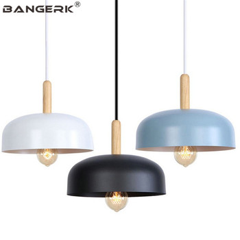Loft Design โคมไฟ LED จี้โคมไฟโมเดิร์นอุตสาหกรรมไม้ห้องรับประทานอาหาร Hanglamp โคมไฟติดตั้งภายในบ้าน