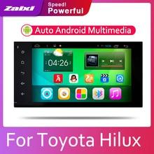 ZaiXi 2din Car multimedia Android Autoradio Radio GPS player For Toyota Hilux Surf 2002~2009 Bluetooth WiFi Mirror link Navi