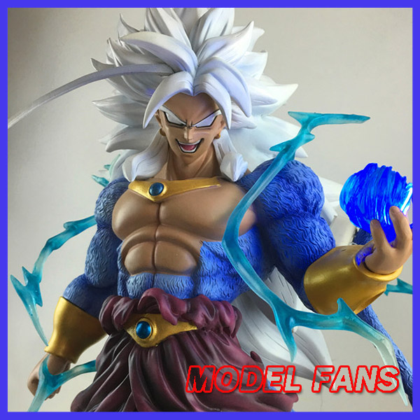 все цены на MODEL FANS DRAGON BALL Z 45cm Super Saiyan 5 Brolly Broli GK resin  contain led light figure toy for Collection онлайн
