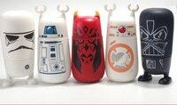 Di alta Qualità di Star Wars Bambini Bottiglia di Acqua di Vetro con Cover In Silicone Sano Plastica ABS Cap Sport Bere Bottiglia Hevos Stile