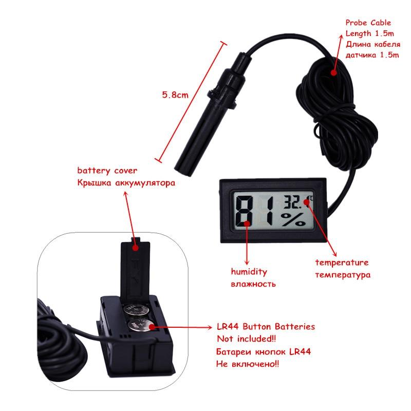 -50 ~ 70C 10% ~ 99% RH LCD Cyfrowy termometr Higrometr Tester Czujnik - Przyrządy pomiarowe - Zdjęcie 4
