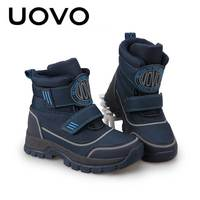 Winter Boots For Boy Uovo Brand Ankle Small or Big Kids Boots Size 26 39 Bota Menino Teenage Outdoor Sporty Shoes Hiking Wading