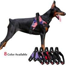 Поводок для собак среднего и большого размера, нейлоновый Светоотражающий ошейник, Сбруя-жилет для собак, тренировочный пояс для собак хаски, Аляски, бульдога
