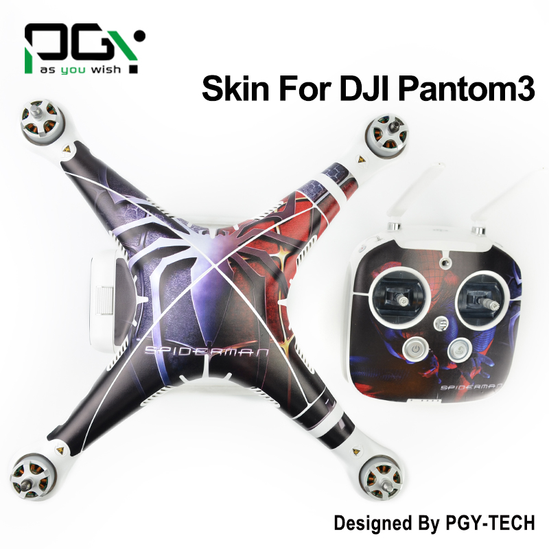 PGY PVC Skin For DJI Phantom 3 Waterproof 3M Sticker professional Drone parts C011