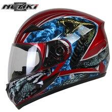 NENKI Motocicleta casco integral Moto de Nieve ATV Moto de Calle Moto de Carreras A Caballo con Clara