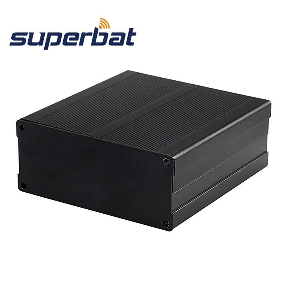 Superbat Aluminum Box Enclosure Case For Project Box Electronic DIY Power Supply Units Amplifier Housing Black 100*97*40MM
