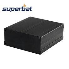 Superbat אלומיניום תיבת מארז מקרה עבור פרויקט תיבה אלקטרוני DIY אספקת חשמל יחידות מגבר דיור שחור 100*97*40MM