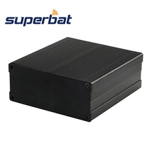 Superbat الألومنيوم مربع الضميمة حالة ل علبة توزيع إلكترونيات الإلكترونية DIY وحدات تزويد الطاقة مكبر للصوت الإسكان الأسود 100*97*40 مللي متر