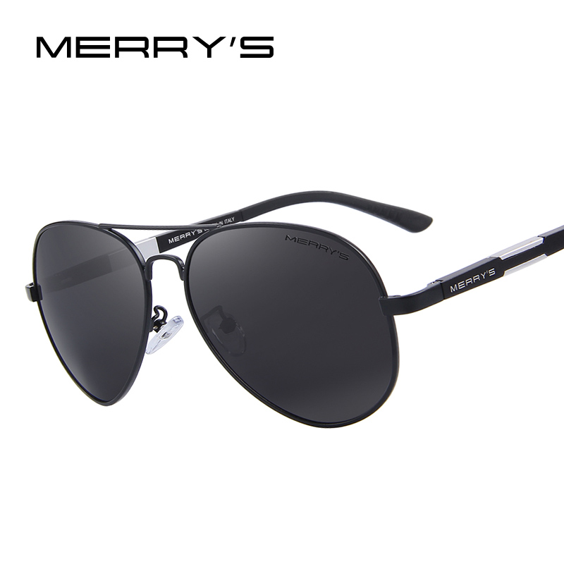 MERRY'S Men HD Polarized Sunglasses Magnesio in alluminio Driving Occhiali da sole Occhiali da sole classici da uomo S'8285