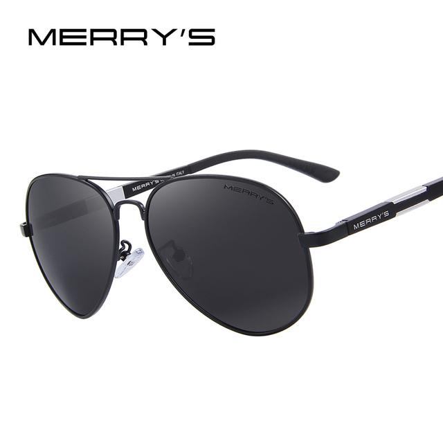 Merry's hombres hd gafas de sol polarizadas de aluminio magnesio conducción gafas de sol clásicas de los hombres gafas de sol de marca s'8285