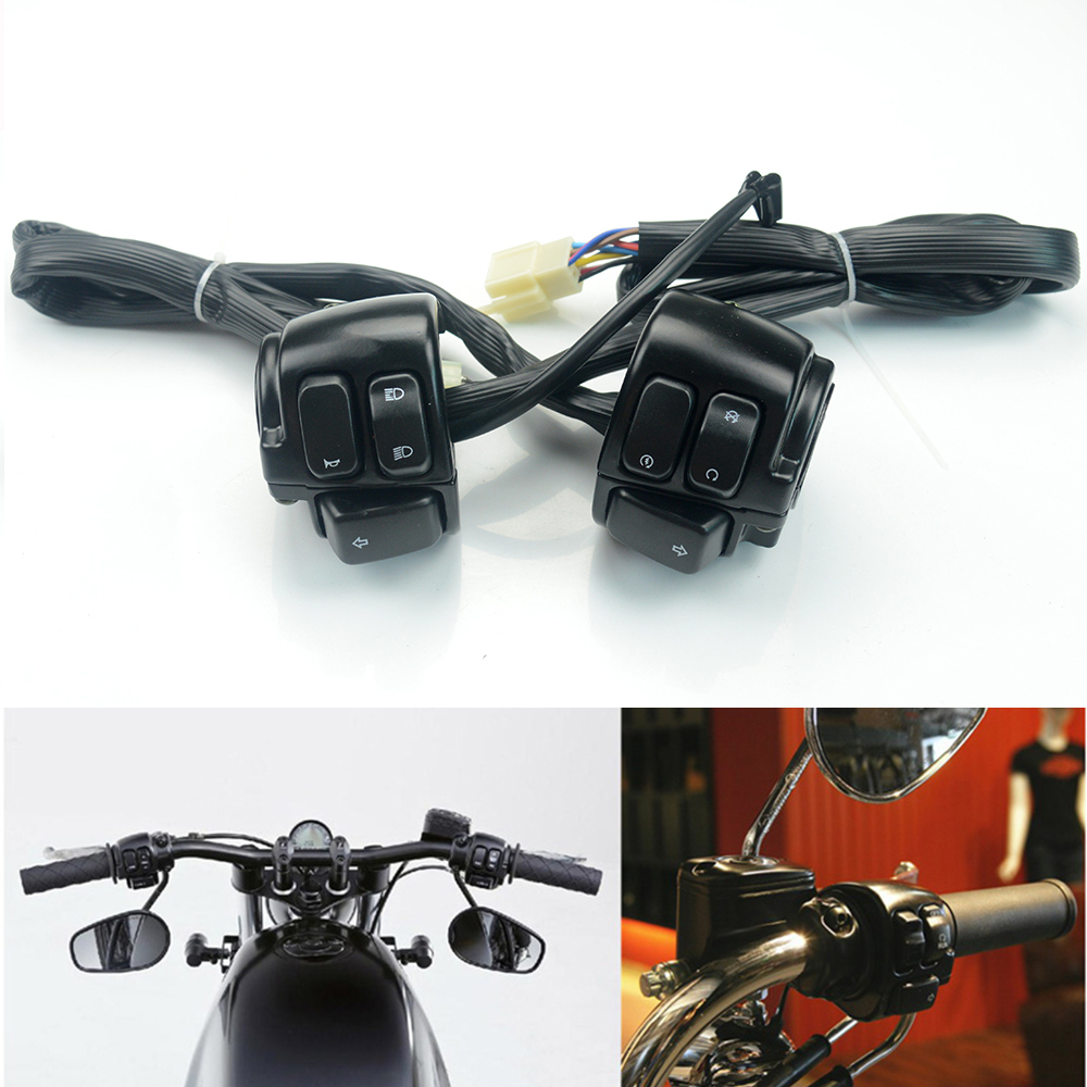 Citall Motorcycle 1 Handlebar Ignition Turn Signal Switch Wiring Harness Inch 25mm Control Headlight Horn Accessories