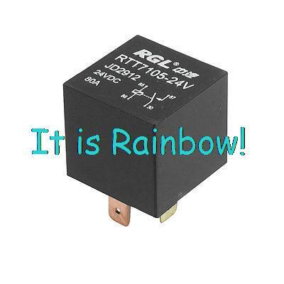 Free Shipping 15mm Mounting Rail Auto Vehicle Car Relay 4 Terminals NO SPST 24VDC 80A