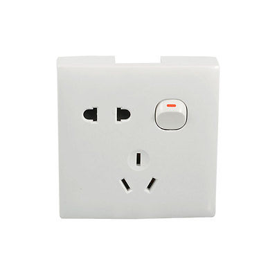 AU Outlet 2 Pin EU US Socket Switch Wall Plate AC 250V 10A Vcepd us au eu plug seat socket 2 gange on off switch wall mount plate ac 250v 10a