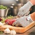 Luvas de Kevlar À Prova de Proteger Mesh Butcher Segurança HPPE Anti Corte de Trabalho Respirável Luvas Resistentes Ao Corte de Polietileno 2 pares/lote