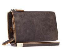 men new Vintage purse Genuine Leather long wallet men's clutch bag multifunctional handbag wallet male large capacity wallets