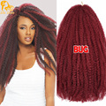 "Cheap Afro Kinky Marley Braiding Hair 18"" Bulk Curly Crochet Synthetic Braids Hair 20strands Soft Ombre Marley Braid Hair Colors"